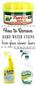 remove hard water stains from glass removing hard water stains from glass shower doors remove hard