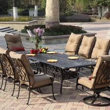 cast aluminum patio furniture stunning patio 8 person outdoor within 8 person outdoor dining table