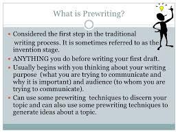 Prewriting Techniques Prewriting Techniques
