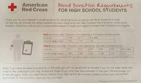 Donate Blood Chart Height Weight