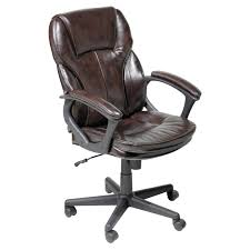 serta manager puresoft leather executive office chair roasted chestnut com