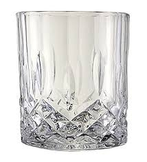 Lead- Crystal Double Old-fashioned Highball Drinking Glasses Set of 6 12oz