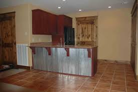 Corrugated Metal Interior Design Corrugated Tin Kitchen Cabinets This Bar Back Is Corrugated