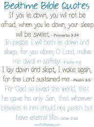 Bedtime Quotes Magnificent Bedtime Bible Quotes The Littlest Way