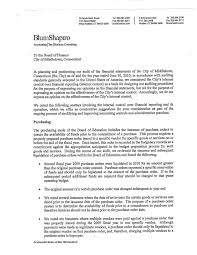Middletowneye Auditor S Management Letter