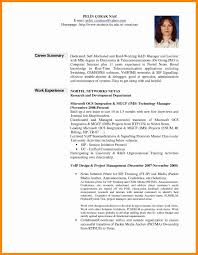 Career Summary Samples Resume Summary Samples For It Professionals Best Of Cover Letter 6