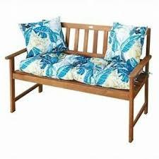 garden bench cushion coastal stripe