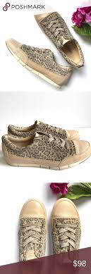 Paul Green Shoe Size Chart Paul Green Leopard Beige Leather Sneakers Sz Us 9 Brand