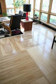 Another photo of plywood floors...and this one uses bigger sections so would