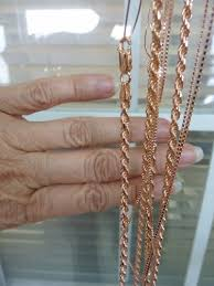 rose gold plated chains it may be a fine layer but they look real