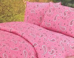 pink paisley sheet set full