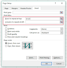 how to print frozen panes on every page