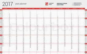 Yearly Calendar Planner Template 2017 Yearly Calendar Template 2017 Yearly Calendar Template In