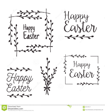 Easter Templates Happy Easter Templates Labels Borders Stock Vector Illustration