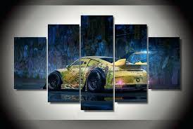 graffiti wall art canvas graffiti yellow abstract race sports car panel wall art on canvas room graffiti wall art canvas