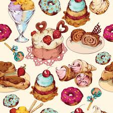 cake pattern wallpaper. Delighful Pattern WM574  Ice Cream And Cakes Repeat Wallpaper  Self Adhesive  Rolls Art Fever With Cake Pattern A
