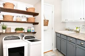 Laundry Room Design On A Budget Budget Laundry Room Makeover With Diy Shiplap And Stained