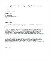 Sample Cover Letter Engineering Engineer Student Job Application
