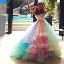 Sweet Rainbow Colorful <b>Prom</b> Dresses <b>Puffy</b> Skit A Line <b>New 2019</b> ...