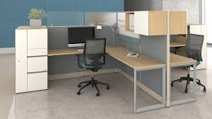 office cubicle lighting. Lacasse Nvision L-Shaped Pod Of 2 Office Cubicle Lighting