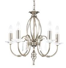 aegean 5 light polished nickel chandelier elstead lighting