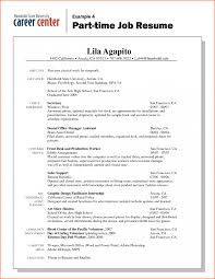 Resume Format First Job Resume Template First Job How To Write A Work History Time Examples 20