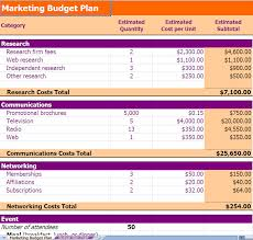 Budget Plan Excel Marketing Budget Planning Excel Template