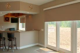 image of contemporary window treatments sliding glass doors design