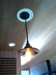 convert can lights to pendant