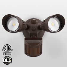 20w dual head motion activated led outdoor security light photocell included newly designed 3 lighting modes 3000k warm white waterproof 120w halogen