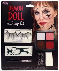 demon or broken doll face makeup kit