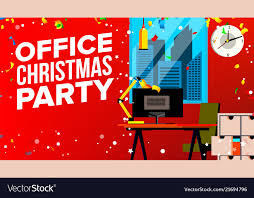 Office Christmas Party Merry Christmas And Vector Image