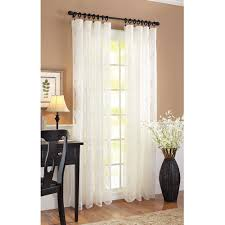 Lace Window Treatments Better Homes And Gardens Lace Damask Curtain Panel Cream