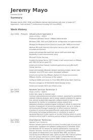 Vmware Resume Examples] Download Vmware Resume .