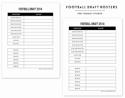 30 Fantasy Football Draft Template Pryncepality