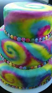 Tie Dye Birthday Cake Designs Batik Kage Sprayet Med Airbrush Fra Kagebutikken Tie Dye