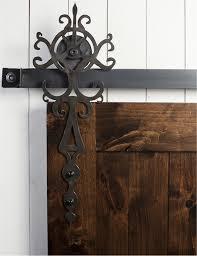 our royal sliding barn door hardware kit adds a sense of elegance