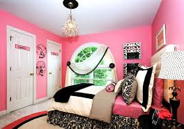 extraordinary pink bedroom theme for teenage girls with chandelier and white windows curtains