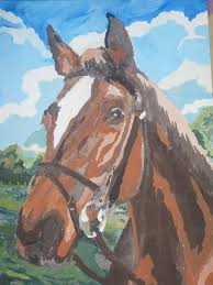 horse head painting by love mizz gorse
