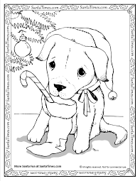 Small Picture Christmas Puppy Coloring Pages Coloring Coloring Pages