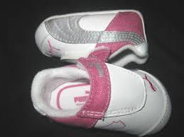 puma infant shoes. girl infant puma glitter crib shoes size 1 o