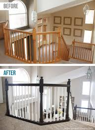 diy how to stain and paint an oak banister spindles and newel posts the shortcut method no sanding needed via make it and love it