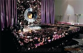 amethyst semi precious translucent stone slabs gemstone decorative kitchen tops countertops cost how much do preciou