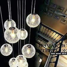 round glass ball chandelier morn large long stair lights pendant light fixture full size of crystal