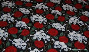 Skull Rose Tattoo Old Style Goth Biker Outsider Art Grateful Dead ... & Skull Rose Tattoo Old Style Goth Biker Outsider Art Grateful Dead Black  Cotton fabric Quilt fabric W52 Adamdwight.com