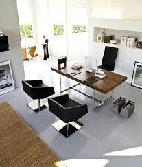 contemporary office lighting. Stunning Neat Assembling Furniture In Modern Home Office Area Exposing Dark Chairs And Teak Desk Contemporary Lighting Fixtures