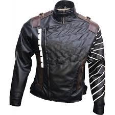 avengers infinity war winter solr bucky barnes leather jacket for men mine jackets