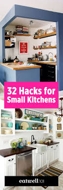 Charming 32 Brilliant Hacks To Make A Small Kitchen Look Bigger