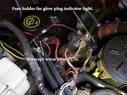 power stroke faq glow plug relay bypass step 3 dash indicator light i wanted a more accurate way to determine when the glow plugs were actually on than by using the factory idiot light or by
