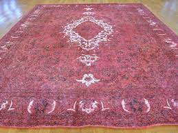 10 x12 handmade pink overdyed persian tabriz barjasta pure wool rug contemporary area rugs by oriental rug galaxy